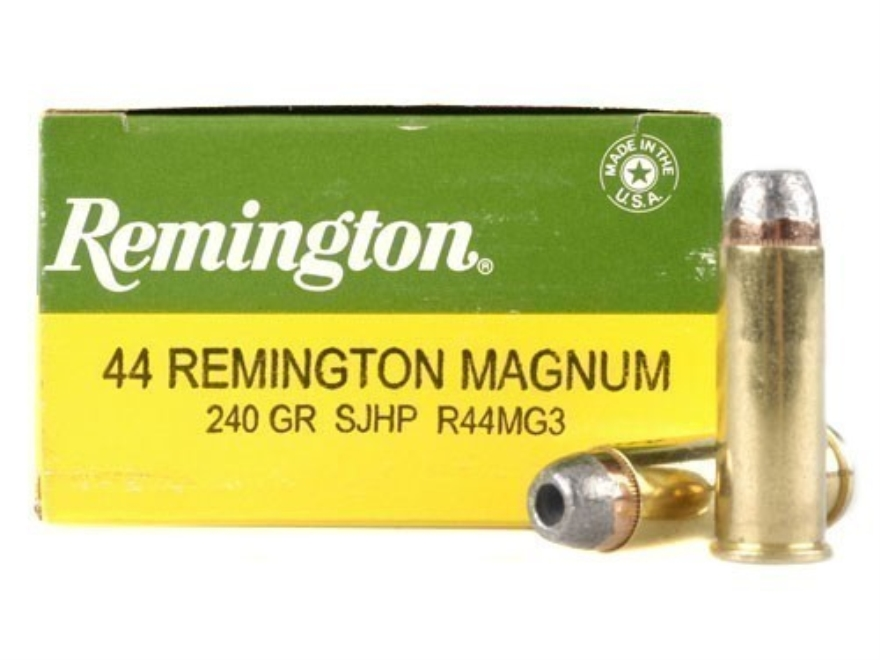 Remington Express Ammunition 44 Remington Magnum 240 Grain Semi Jacketed Hollow Point Box of 25