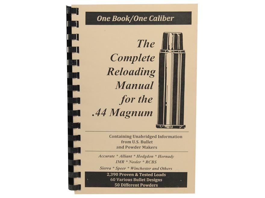 "Loadbooks USA ""44 Remington Magnum"" Reloading Manual"