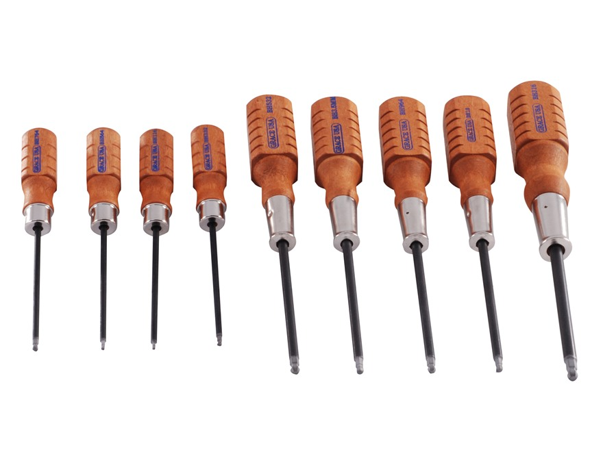 Grace USA 9-Piece Ball End Hex Head Screwdriver Set