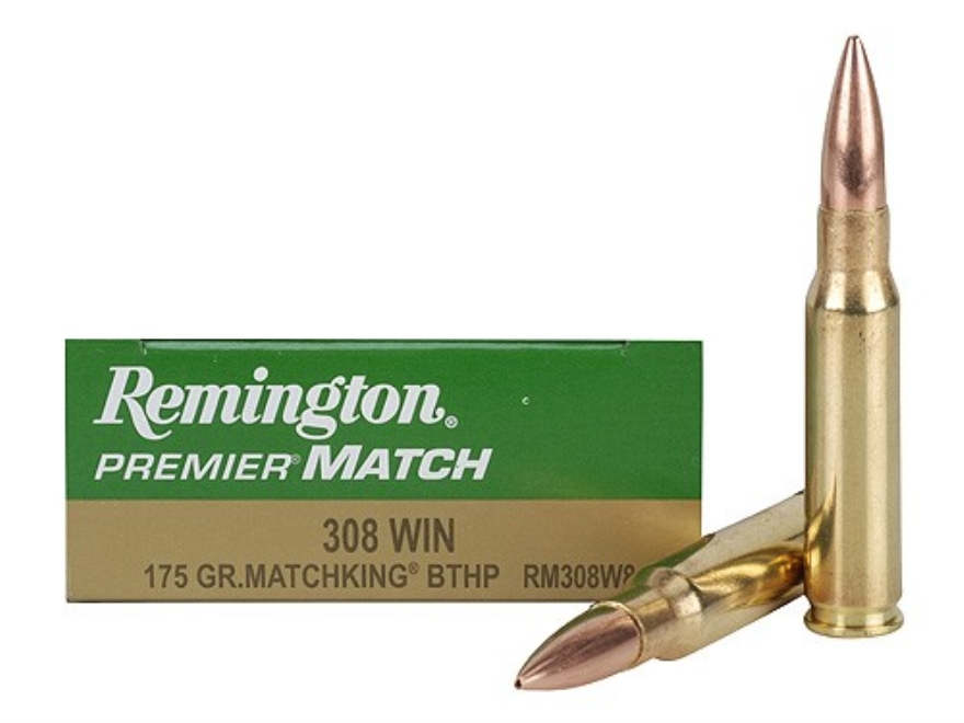 Remington Premier Match Ammunition 308 Winchester 175 Grain Sierra MatchKing Hollow Point Box of 20