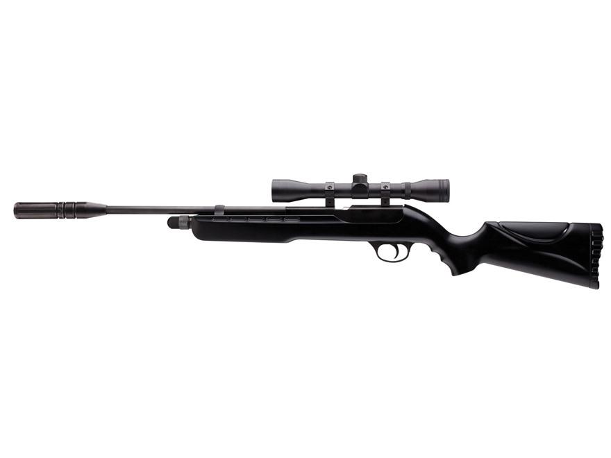 Umarex Fusion Break Barrel Air Rifle 177 Caliber Pellet Black Polymer Stock Blued Barrel with Airgun Scope 4x 32mm Matte