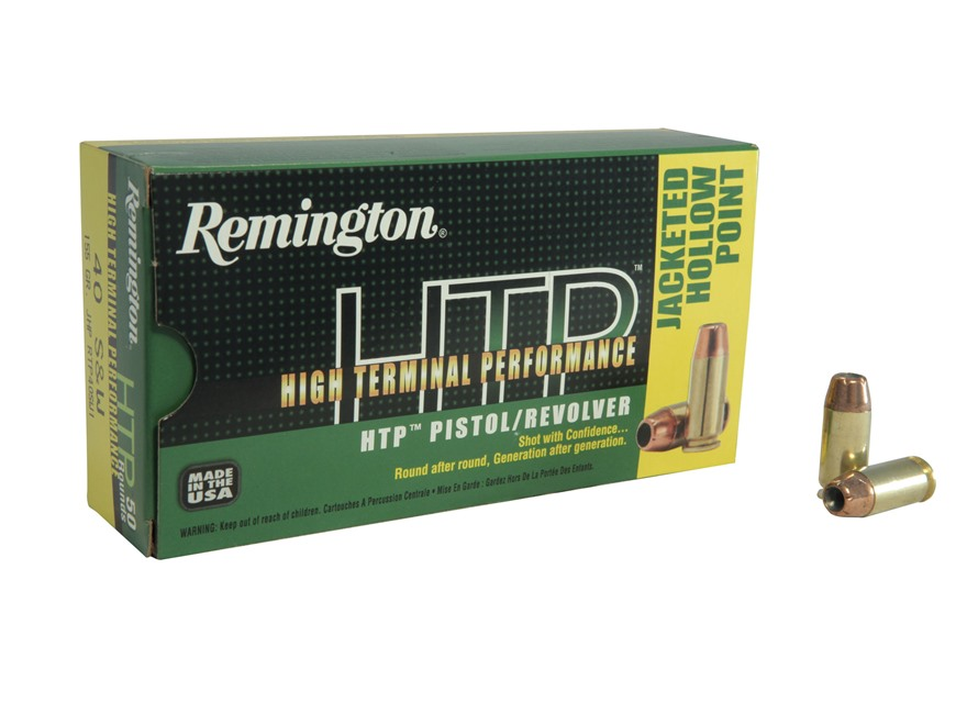 Remington High Terminal Performance Ammunition 40 S&W 155 Grain Jacketed Hollow Point Box of 50