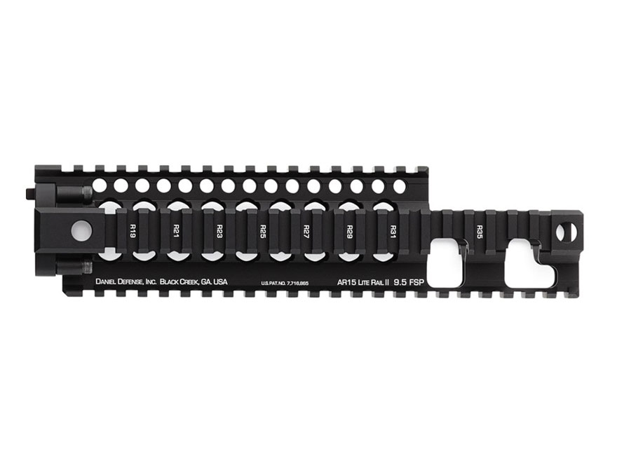 Daniel Defense Lite Rail II 9.5 FSP Free Float Tube Handguard Quad Rail AR-15 Extended Carbine Length Aluminum Black