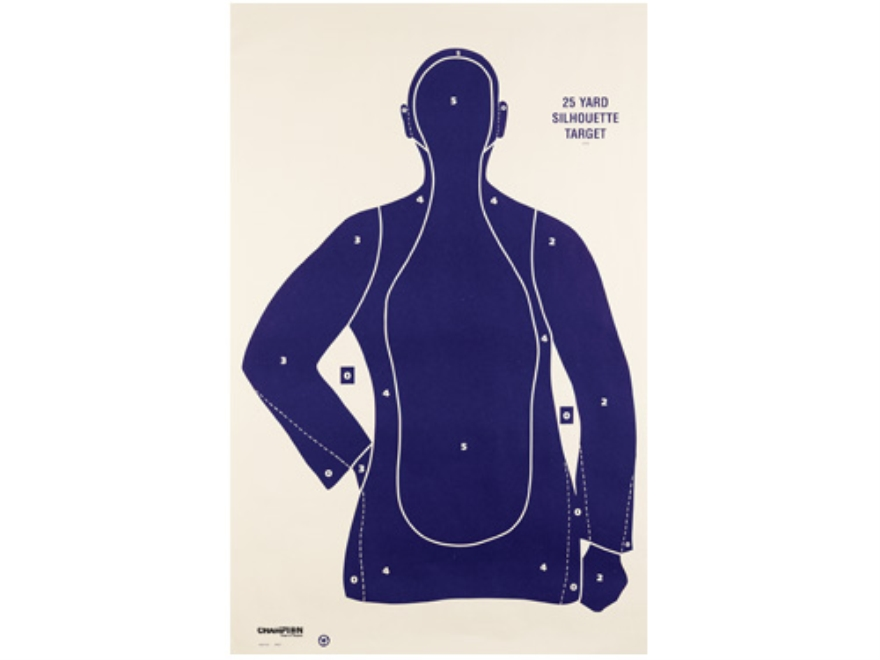 "Champion LE Police Silhouette Targets B21E 22.5"" x 35"" Paper Pack of 100"