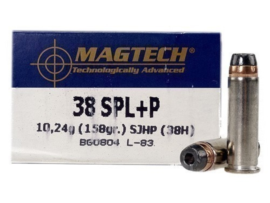 Magtech Sport Ammunition 38 Special +P 158 Grain Semi-Jacketed Hollow Point