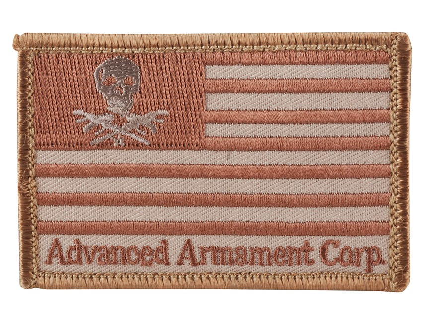Advanced Armament Co (AAC) Flag Patch Hook-&-Loop Fastener Tan