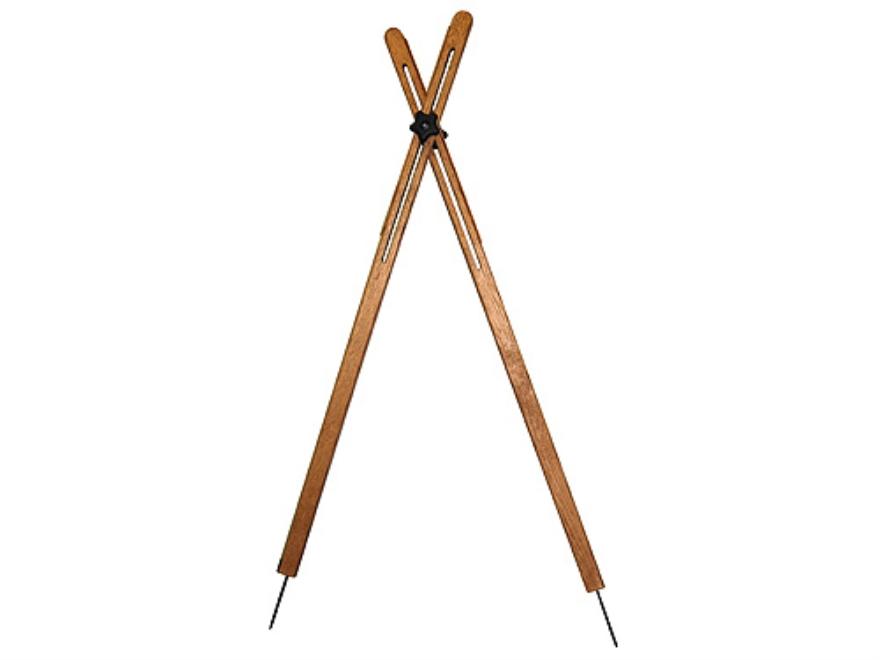 """Cat's Shooting Sticks Buffalo Cross Sticks Sitting/Kneeling Model 48"""" Solid Oak"""