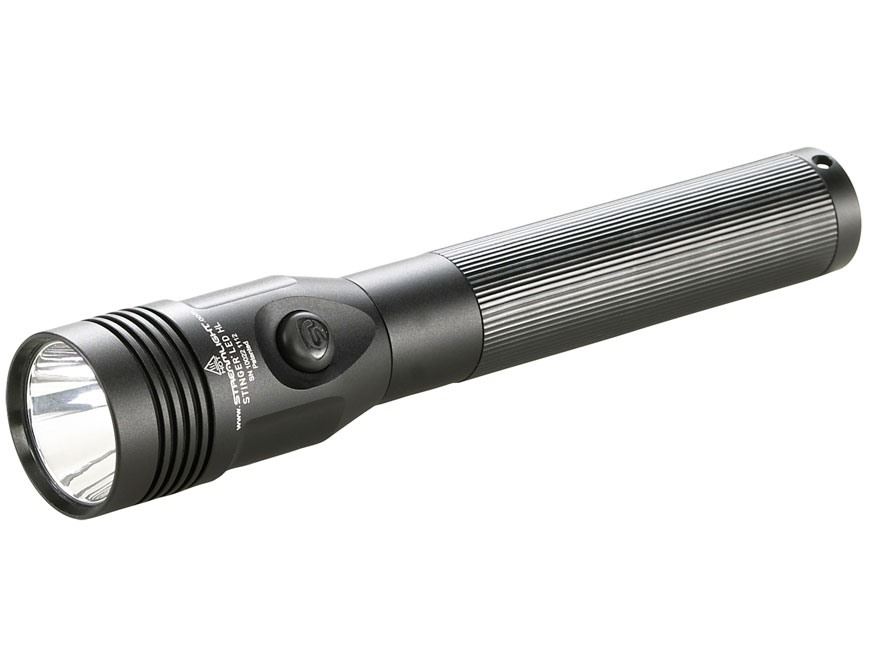 Streamlight Stinger Flashlight LED HL (High Lumens) with Rechargeable NI-MH Battery with 2 Chargers Aluminum Black