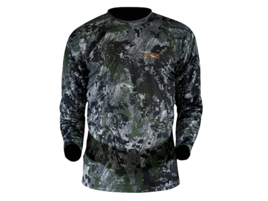 Sitka Gear Youth Core Mock Shirt Long Sleeve Polyester Gore Optifade Elevated Forest Ca...