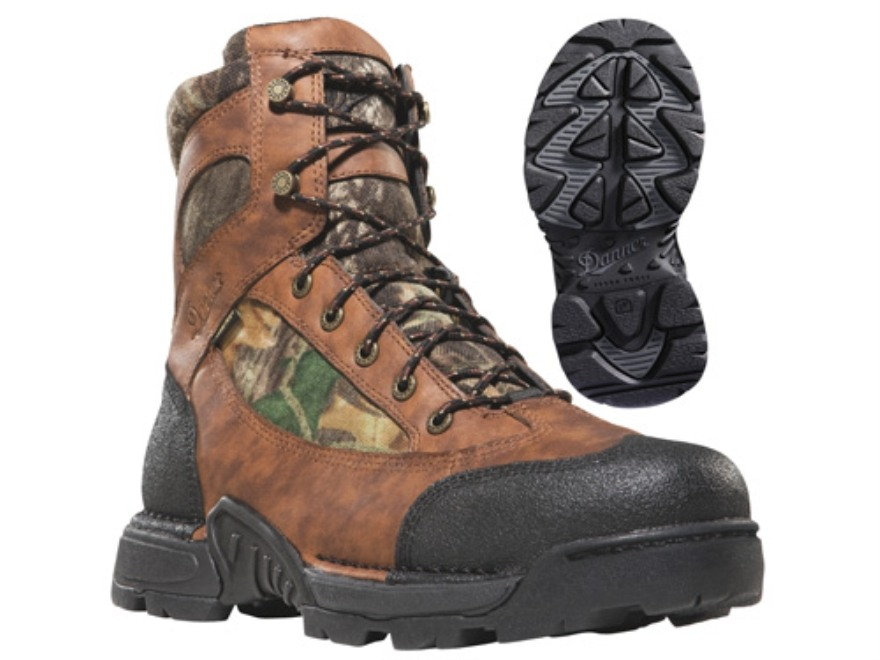 "Danner Pronghorn GTX 6"" Waterproof Uninsulated Hunting Boots Leather and Nylon Mossy Oak Break-Up Camo Men's 10 D"