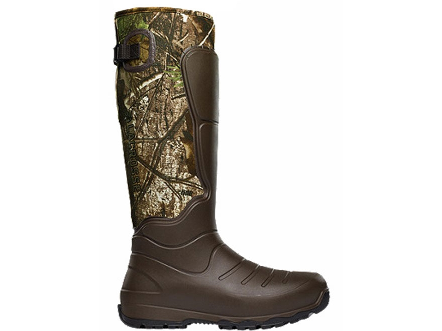 "LaCrosse 3.5mm Aerohead 18"" Waterproof Uninsulated Hunting Boots Polyurethane Clad Neoprene Realtree Xtra Green Camo Men's"