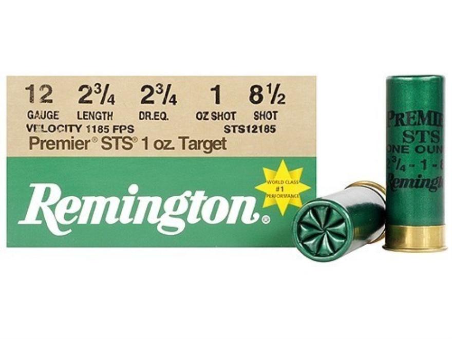 "Remington Premier STS Target Ammunition 12 Gauge 2-3/4"" 1 oz #8-1/2 Shot"