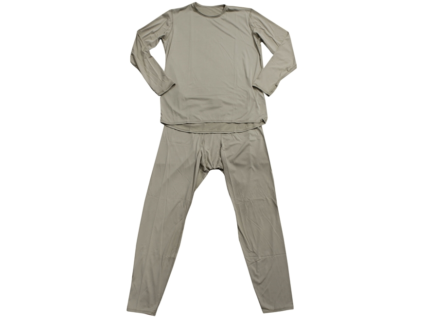 Military Surplus GEN III Level 1 Silk-Weight Set Shirt/ Pants Sand Large Long