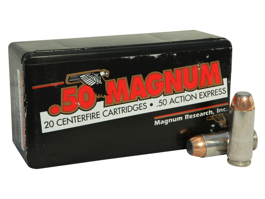Magnum Research Ammunition 50 Action Express 350 Grain Jacketed Soft Point Box of 20
