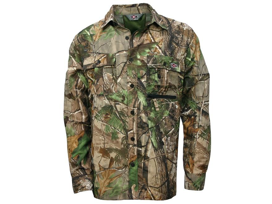 10X Men's Ultra-Lite Shirt Long Sleeve Polyester Ripstop