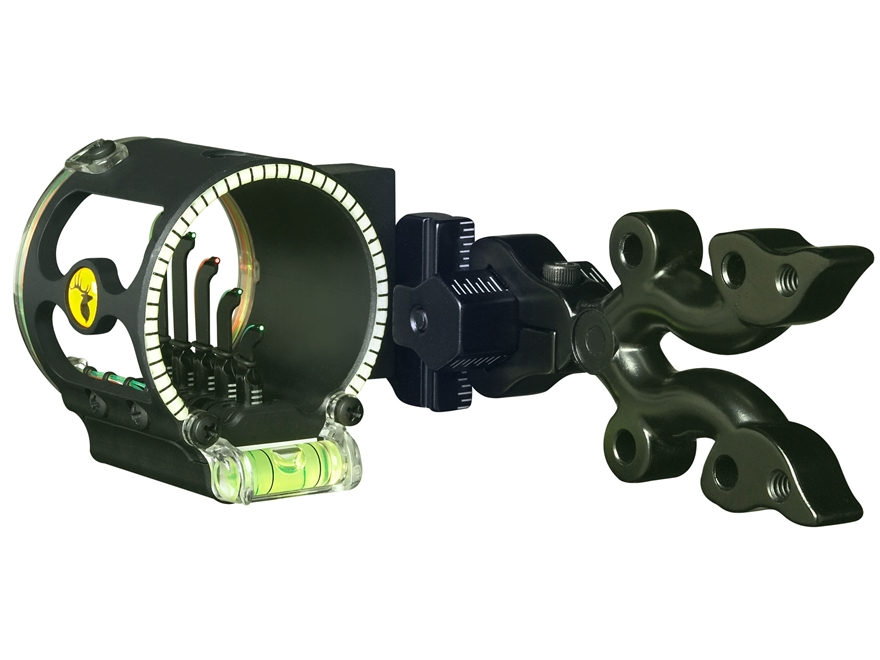 "Trophy Ridge Fire Wire V5 5-Pin Bow Sight .019"" Pin Diameter Right Hand Aluminum Black"