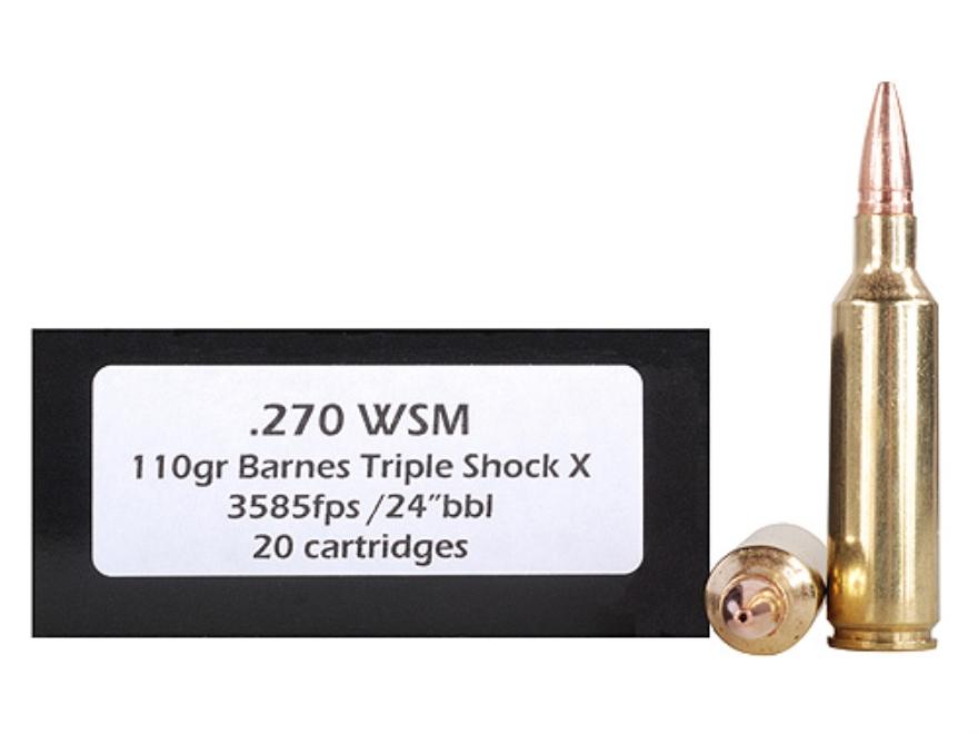 Doubletap Ammunition 270 Winchester Short Magnum (WSM) 110 Grain Barnes Triple-Shock X ...
