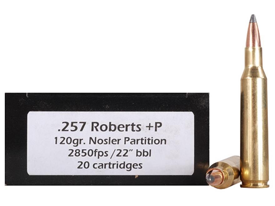 Doubletap Ammunition 257 Roberts +P 120 Grain Nosler Partition Box of 20