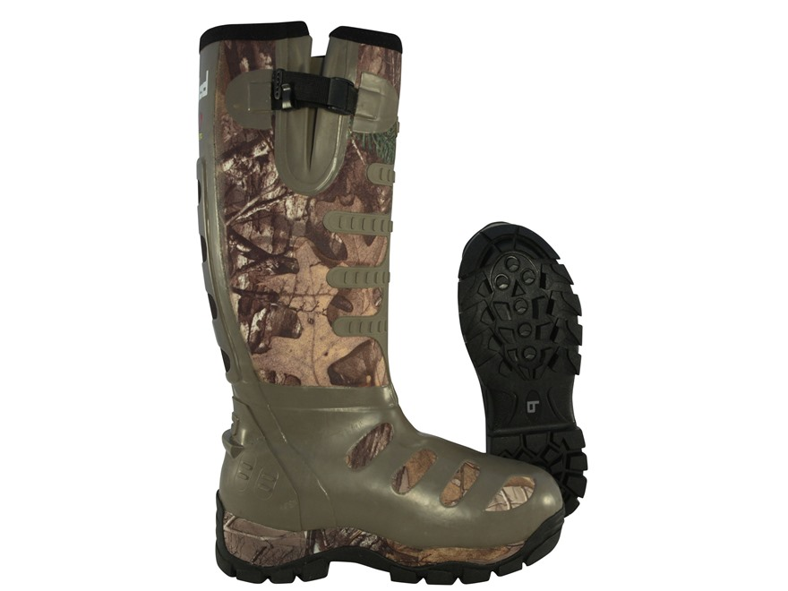 "Banded 17"" Waterproof Breathable 1200 Gram Insulated Hunting Boots Nylon and Rubber Realtree Xtra Camo Men's 10 D"