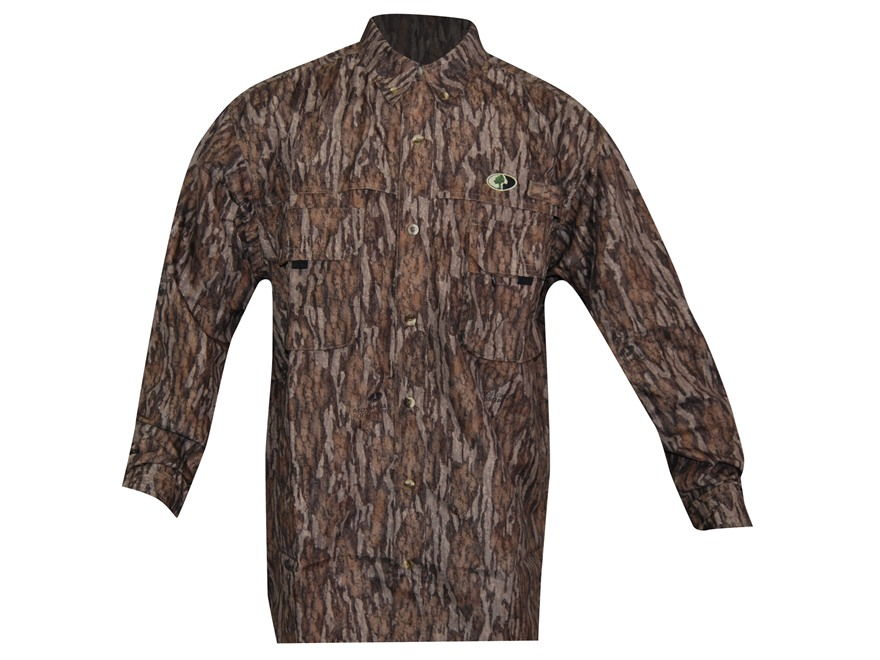 Russell Outdoors Men's Treklite Shirt Long Sleeve Polyester Mossy Oak New Bottomland Camo Large 42-44