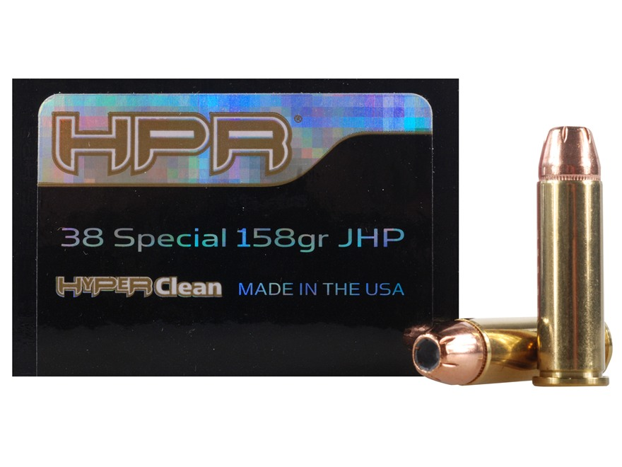 HPR HyperClean Ammunition 38 Special 158 Grain Hornady XTP Jacketed Hollow Point Box of 50