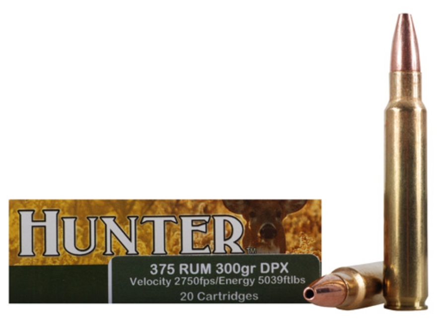 Cor-Bon DPX Hunter Ammunition 375 Remington Ultra Magnum 300 Grain Barnes Triple-Shock X Bullet Hollow Point Lead-Free Box of 20