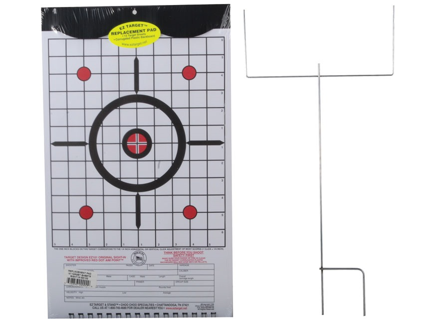 "EZ Target Sight-In Master Pack Target 11"" x 17"" Paper Package of 15 with Stand and Backer"