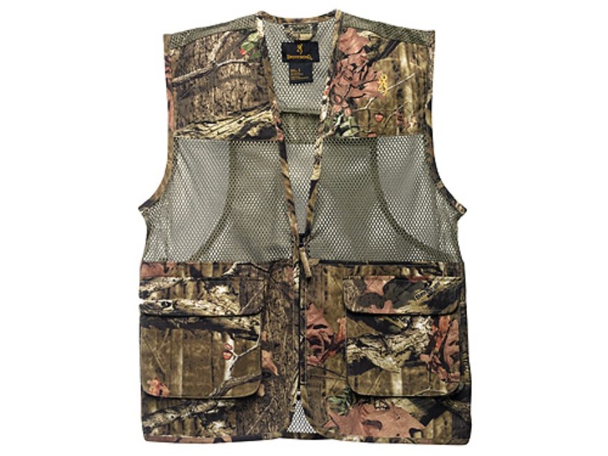 Browning Men's Dove Vest Cotton Polyester Blend Mossy Oak Break-Up Infinity Camo Medium 40-42