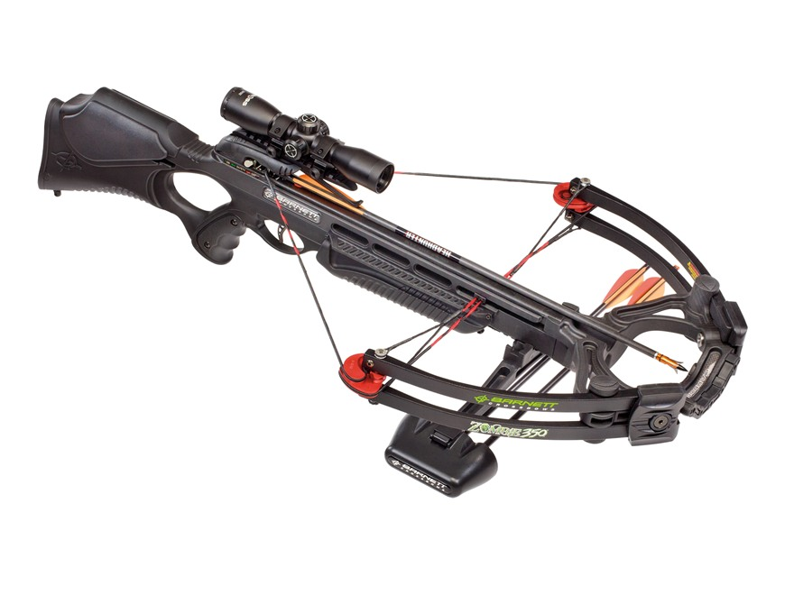 Barnett Zombie 350 CRT Crossbow Package with 3x 32mm Multi-Reticle Crossbow Scope Black