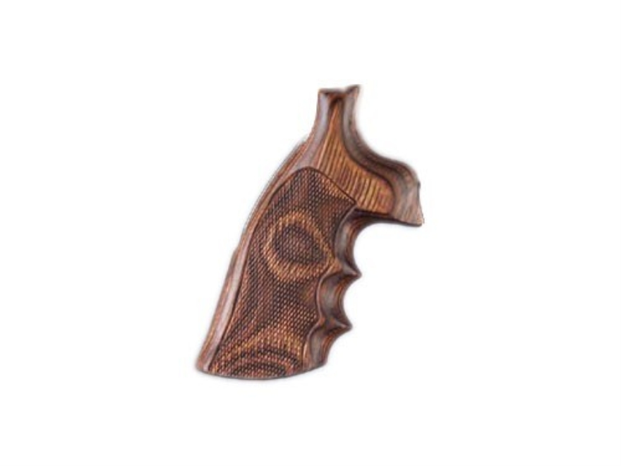 Hogue Fancy Hardwood Grips with Finger Grooves Dan Wesson Large Frame Checkered
