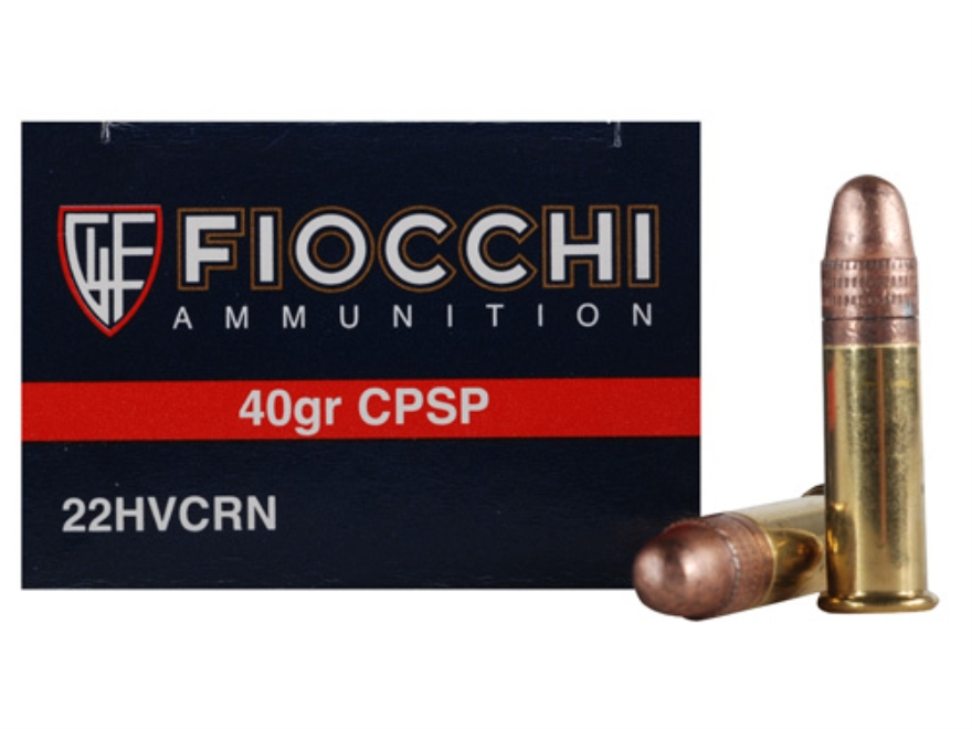 Fiocchi Ammunition 22 Long Rifle 40 Grain Plated Lead Round Nose