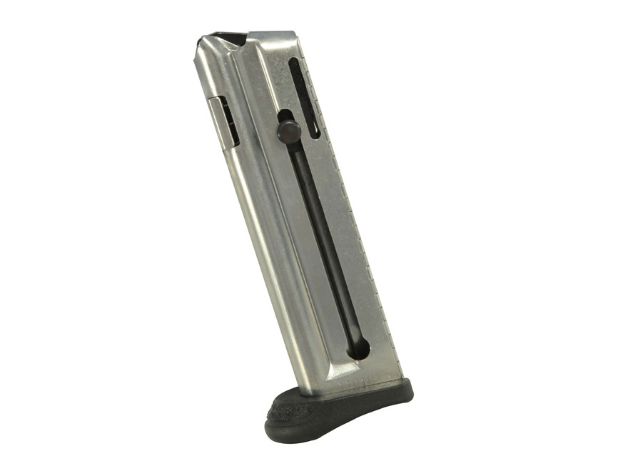Walther Magazine P22 Q-Style 22 Long Rifle 10-Round Steel Nickel Plated with Finger Rest