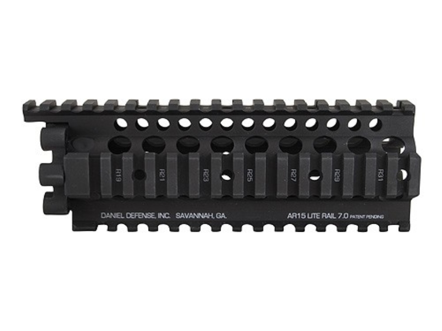 Daniel Defense Lite Rail 7.0 Free Float Tube Handguard Quad Rail AR-15 Carbine Length Aluminum Black