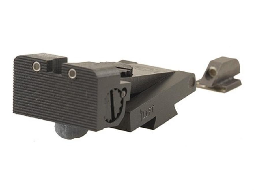 STI Adjustable Night Sight Set 1911 STI Front Cut and Bo-Mar Rear Cut Steel Blue Tritium