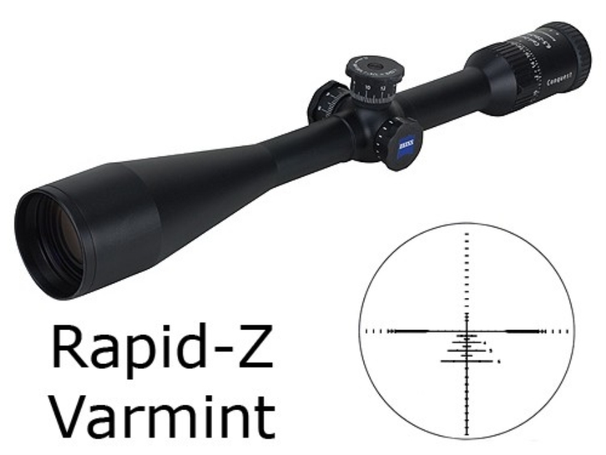 Zeiss MC Conquest Rifle Scope 6.5-20x 50mm Side Focus Target Turrets Rapid Z Varmint Reticle Matte
