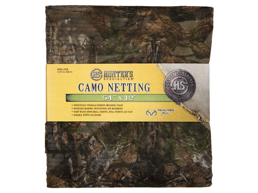 "Hunter's Specialties Blind Material 12' x 54"" Mesh Polyester Realtree Xtra Camo"