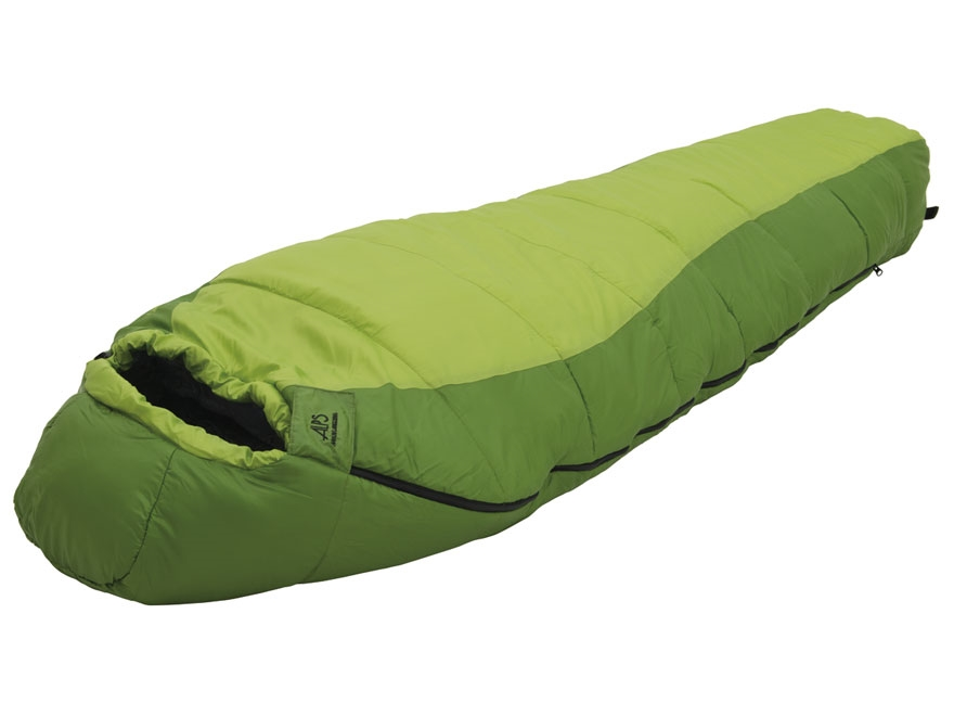 ALPS Crescent Lake Mummy Sleeping Bag Polyester Kiwi and Green