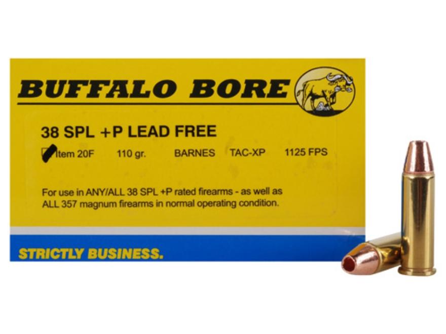 Buffalo Bore Ammunition 38 Special +P 110 Grain Barnes TAC-XP Hollow Point Lead-Free Bo...