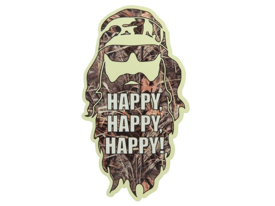 Duck Dynasty Phil Happy Happy Happy Decal
