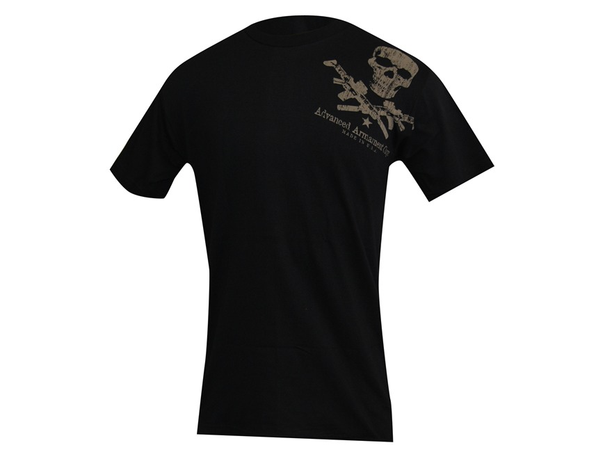 Advanced Armament Co (AAC) Shoulder X-Guns Logo T-Shirt Short Sleeve Cotton Black XL