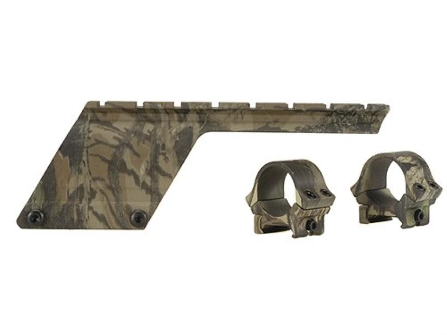 """B-Square Shotgun Saddle Mount with 1"""" Rings Remington 870 SPS 12 Gauge Mossy Oak Break-Up Camo"""
