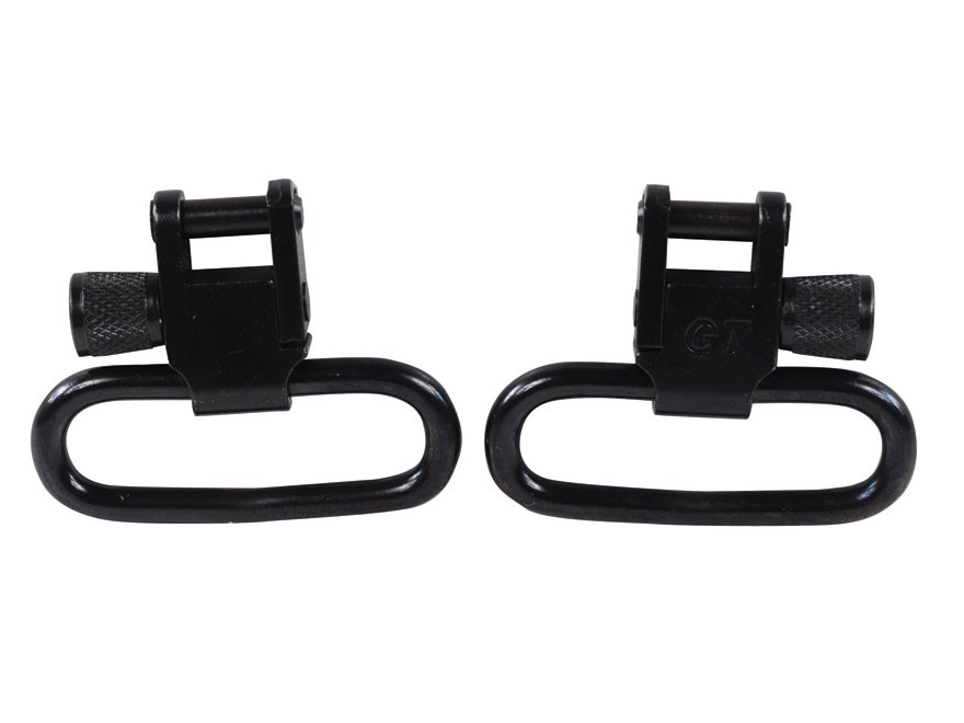 "GrovTec Locking Sling Swivels 1-1/4"" Steel Black (1 Pair)"