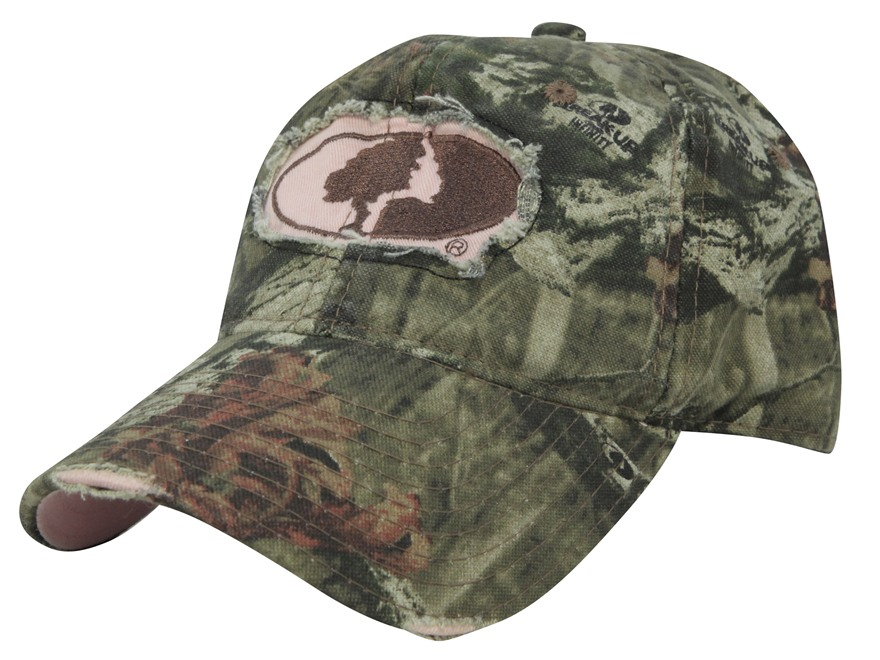 Mossy Oak Women's Tree Logo Cap Cotton Mossy Oak Break-Up Infinity Camo and Pink