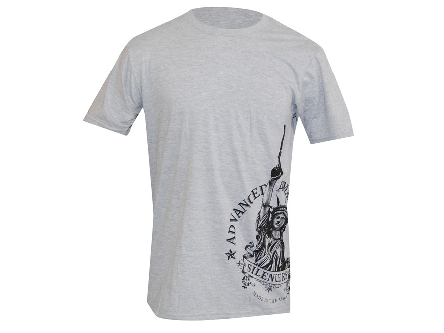 Advanced Armament Co (AAC) LibertTee Sideprint T-Shirt Short Sleeve Cotton Gray XL