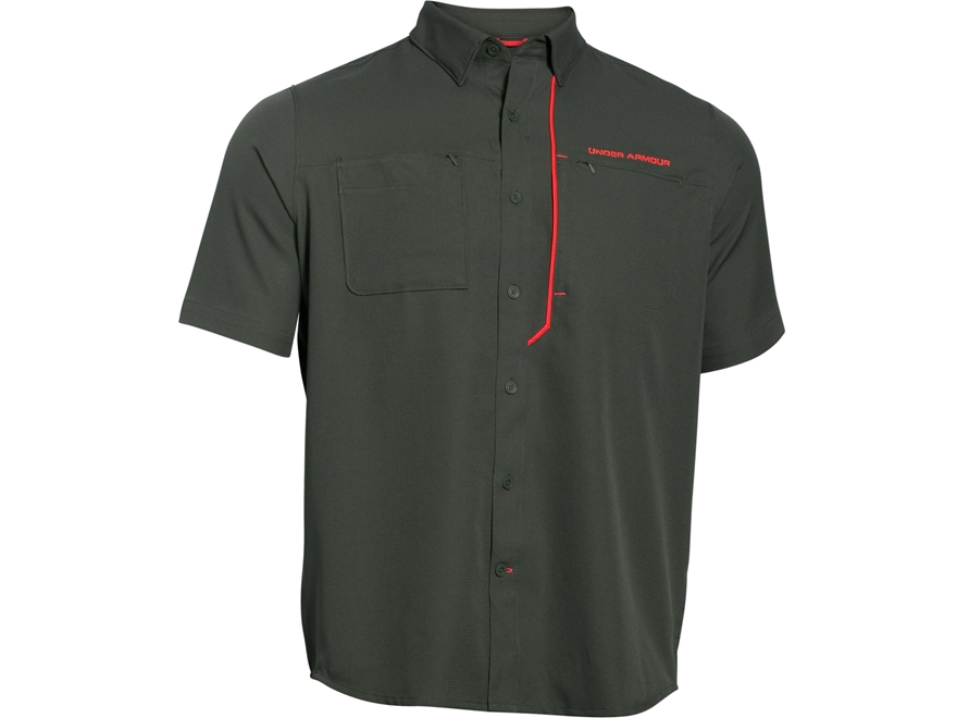 Under armour men 39 s ua armourvent fishing shirt short for Under armour fishing shirts clearance