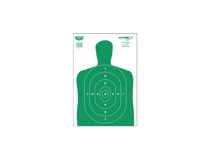 """Birchwood Casey Eze-Scorer BC27 Green Targets 12"""" x 18"""" Pack of 10"""