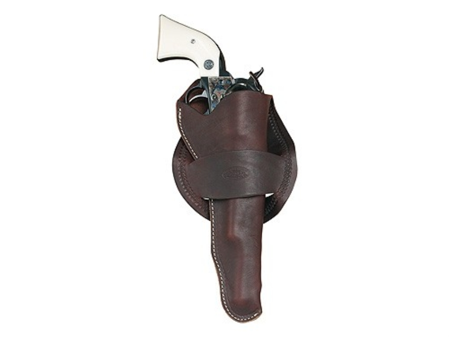 "Hunter 1089 Western Crossdraw Holster Right Hand Colt Single Action Army, Ruger Blackhawk, Vaquero 5.5"" Barrel Right Hand Leather Antique Brown"