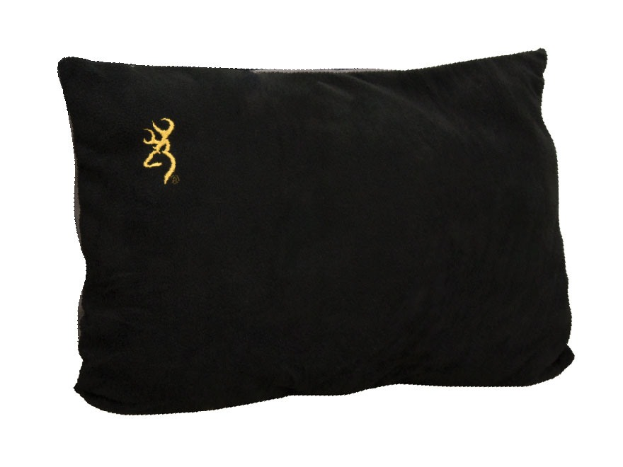 "Browning Fleece Logo Pillow 16"" x 24"" Polyester Black"
