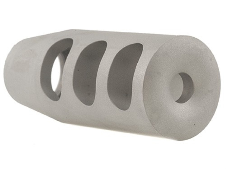 "Holland's Quick Discharge Muzzle Brake 5/8""-28 Thread .650""-.750"" Barrel Tapered Stainless Steel"