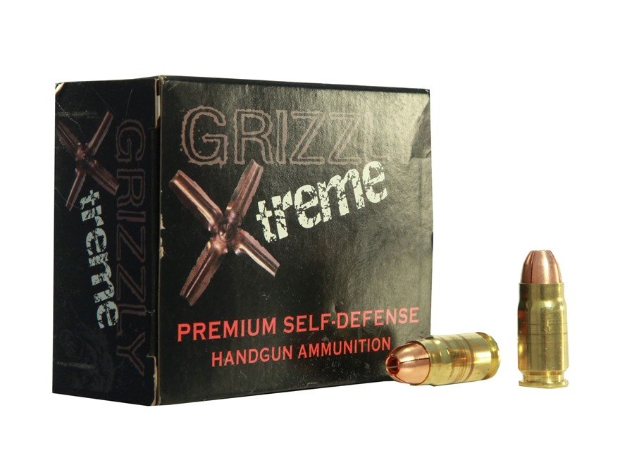 Grizzly Self-Defense Ammunition 357 Sig 110 Grain Xtreme Copper Hollow Point Lead-Free ...